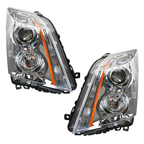 Halogen Headlights Headlamps Left & Right Pair Set for 08-11 Cadillac CTS