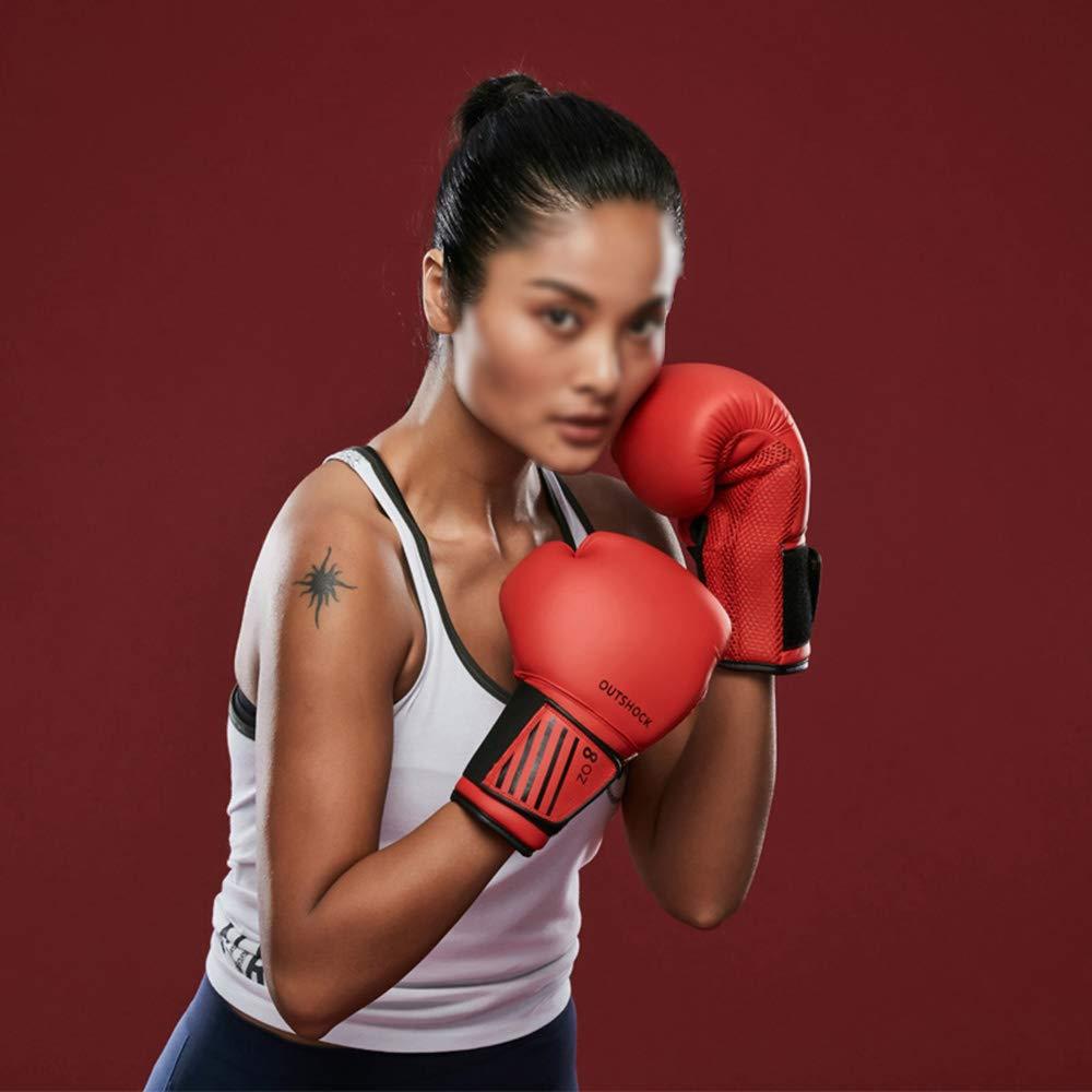 XBQJST Guantes De Boxeo para Principiantes: Rojo Y Negro, Guantes De Entrenamiento De Boxeo Unisex, Adecuados para Muay Thai Wushu Sanda Lucha De ...