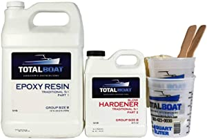 TotalBoat 5:1 Epoxy Resin Kits, Marine Grade Epoxy for Fiberglass and Wood Boat Building and Repair