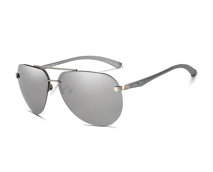 Gafas De Sol Hombre Espejo Polarizadas Cristal Gris - Gafas ...