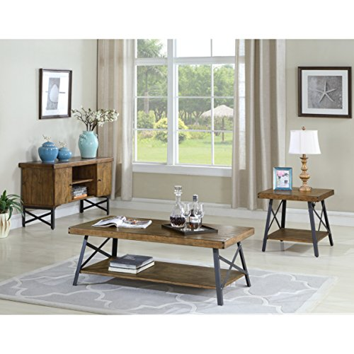 home, kitchen, furniture, living room furniture, tables,  coffee tables 2 on sale Emerald Home Chandler Rustic Industrial Solid Wood and deals
