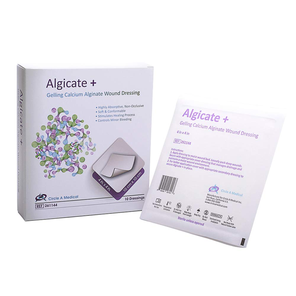 Amazon.com: Algicate+ Gelling Calcium Alginate Wound Dressing Sterile, 4