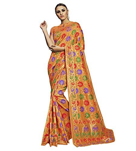 Viva-N-Diva-Orange-Tussar-Art-Silk-Saree-With-Unstitched-Blouse-Piece
