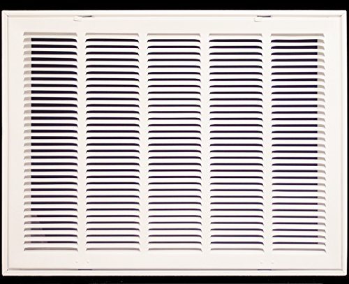 24'' X 10 Steel Return Air Filter Grille for 1'' Filter - Removable Face/Door - HVAC DUCT COVER - Flat Stamped Face - White [Outer Dimensions: 26.5''w X 12.5''h] by HVAC Premium