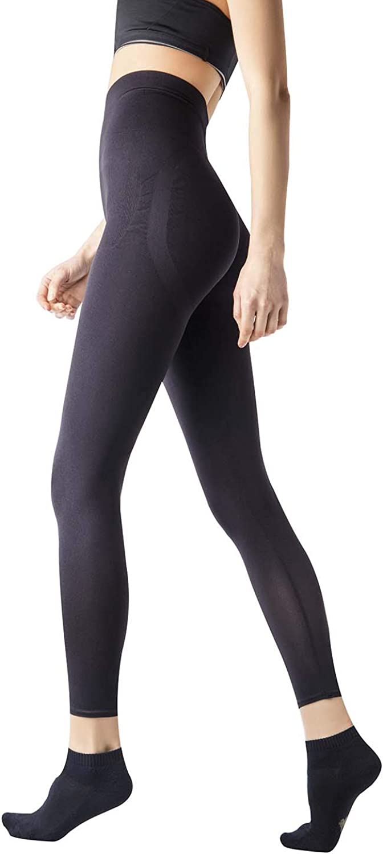 +MD Womens Capri Shapewear Legging Tight Tummy Hips and Thigh Medium Control Shaper