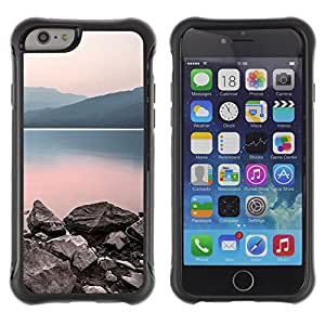 Pulsar Defender Series Tpu silicona Carcasa Funda Case para Apple iPhone 6 Plus(5.5 inches), Nature Calm Lake