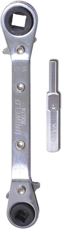 Llave de trinquete 1//2 72 dientes Llave de trinquete de liberaci/ón r/ápida Destornillador de llave de manguito telesc/ópico extensible