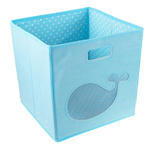 Blue Whale Collapsible Storage Box and Closet Organizer (Storage Box Ocean)
