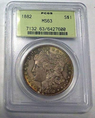 1882 No mint mark Morgan Dollar PCGS MS63