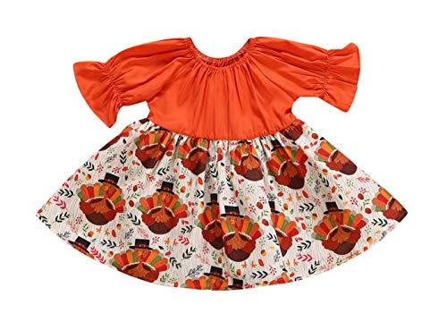 VISGOGO Newborn Kids Baby Girls Dress Turkey Party Pageant Dresse
