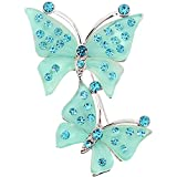 Green Couple Butterfly Pin Brooch