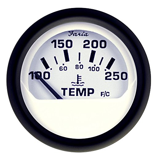 Faria Euro White 2″ Water Temperature Gauge (100-250°F)