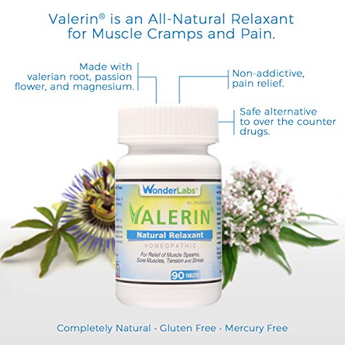 - Stress, Cramps, Muscle Cramps, All-Natural Relaxant | A Proprietary Blend of Valerian Root, Passion Flower, Magnesium and Other Ingredients for a Homeopathic Option for Pain and Stress - (90ct bottle)