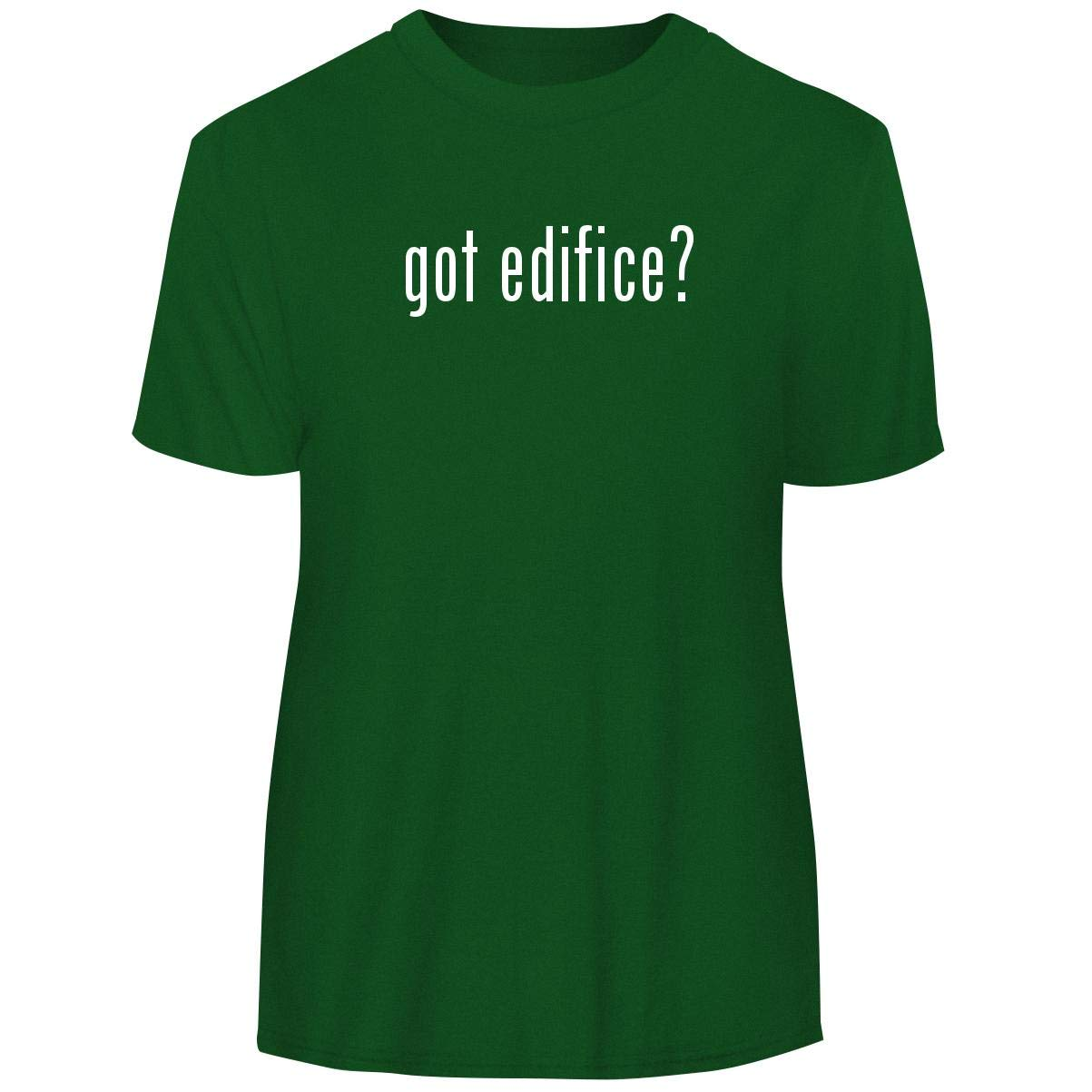 One Legging it Around got Edifice? - Men's Funny Soft Adult Tee T-Shirt, Green, XX-Large