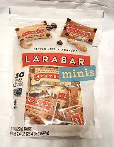 Larabar Minis Fruit and Nut Bars, Peanut Butter Chocolate Chip Cookie, 30 Count by Powerbar