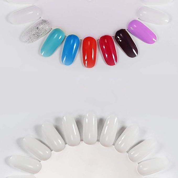 Chiic Tiro - Puntas de uñas postizas en forma de girasol de plástico para uñas, 20 tablas, color blanco: Amazon.es: Belleza