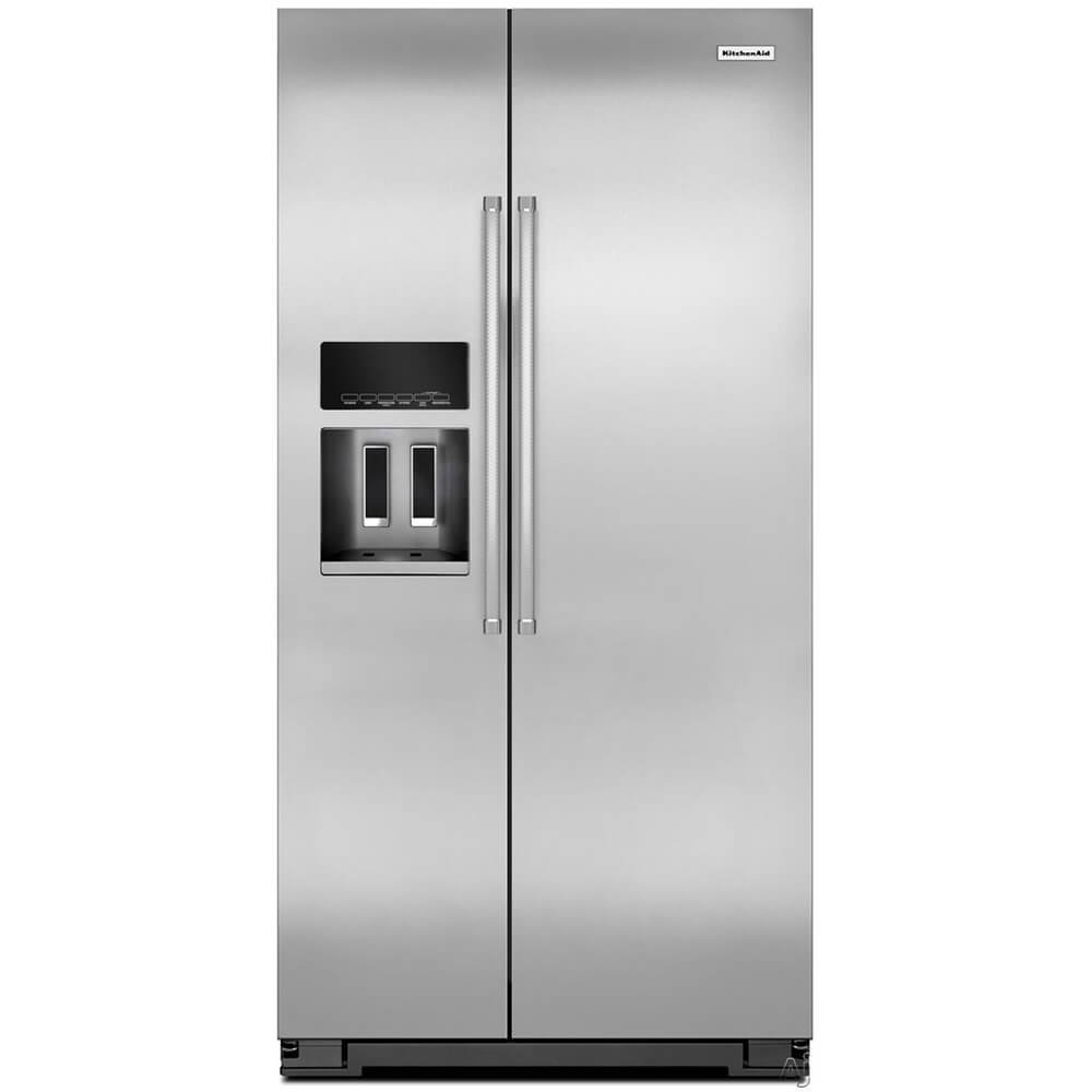 Amazon.com: KitchenAid® 22.7 Cu. Ft. Counter Depth Side-by-Side  Refrigerator with Exterior Ice and Water: Appliances