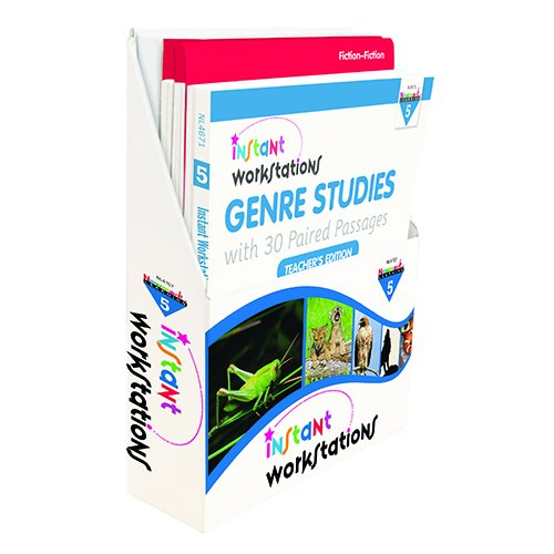 Newmark Learning Nl4707 Instant Workstations  Genre Studies With 30 Paired Passages Gr  5