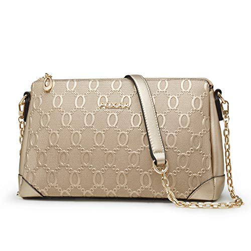 FOXER Women Crossbody Bag Leather Handbag Small Purse Cow Leather Shoulder Bag