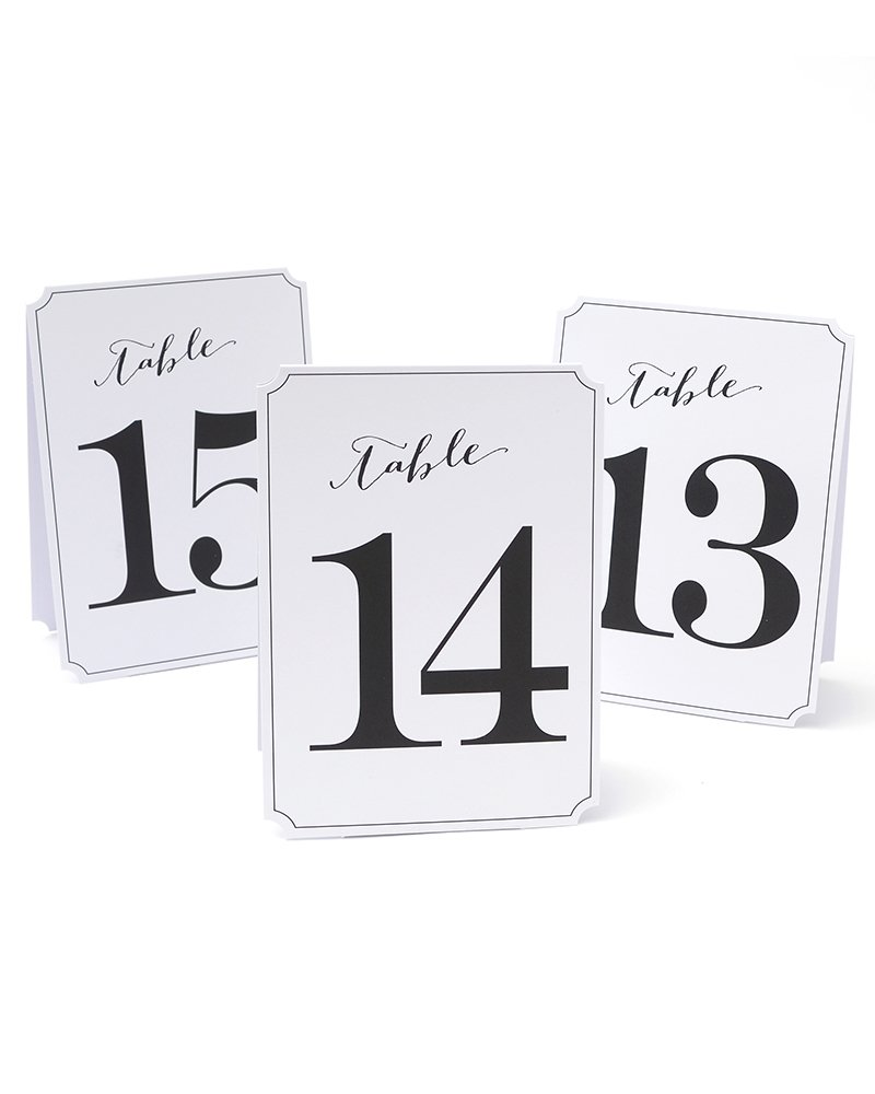 Gartner Studios Table Numbers 1-12 634680997314
