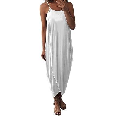en soldes 7772b 34443 DAY8 Robe Femme Chic Soiree Robe Longue Femme Été 2018 Grande Taille  Bustier Robe De Plage Casual Robe Vintage Femme pour Mariage Cocktail Maxi  Jupe ...