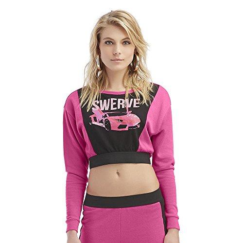 Nicki Minaj Women's Cropped Sweatshirt, Pink, X-Large