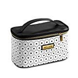 Portable Travel Makeup Bag, Makeup Train Case Multifunction Large Capacity Organizer Cosmetic Bag Toiletries Bag with Makeup Brushes Wallet Jewelry Digital Accessories for Women Girl (White 2)