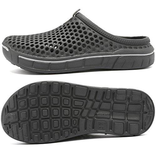 welltree-Garden-ShoesSandals-Women-Men-Quick-Drying-ClogsSlippers-Walking-Lightweight-Rain-Summer-BlackRed