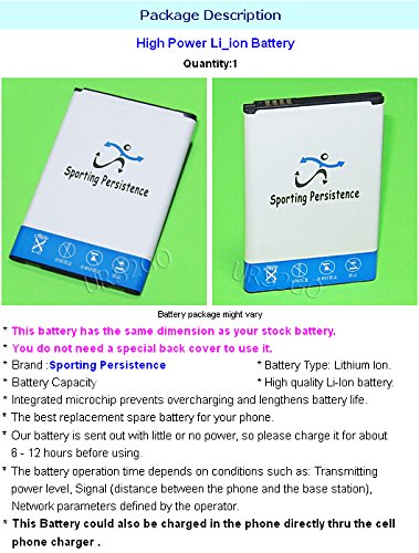 Sporting 3950mAh Extended Slim Battery for T-Mobile LG G4 H811 Android Smartphone - High Capacity