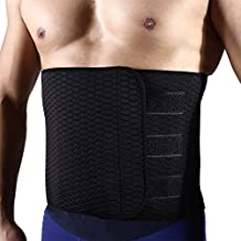 Hero Selected Sweat Waist Trimmer, Neoprene Waist Trainer Adjustable Widened Ab Belt for Men-Weight Loss/Abdominal Muscle/Back Support