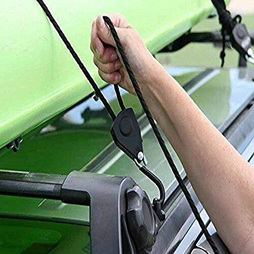 Seamander 1//4 x12ft Kayak Tie Down Straps Canoe Straps Heavy Duty Rope Hanger with Storage Bag