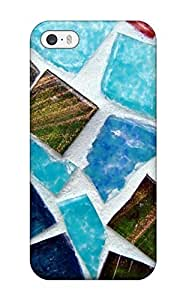For Iphone Case, High Quality Mosaic Texture For Iphone 5/5s Cover Cases(3D PC Soft Case)