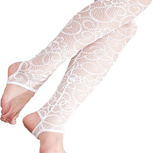 ISYITLTY Women's Patterned Stay Up Tights Extended Sizes Knee High Lace Stockings Socks - Leg Definition Up