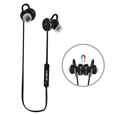 Auriculares Bluetooth, auriculares inalámbricos lobkin, magnético inalámbrico estéreo Auriculares con micrófono, resistente al