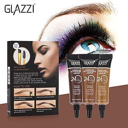 Tinte profesionales para cejas y pestañas profesionales, 15ml KIT(Una compra lleva dos tinte!) Negro/Marrón/Marrón Oscuro (Marrón Oscuro)