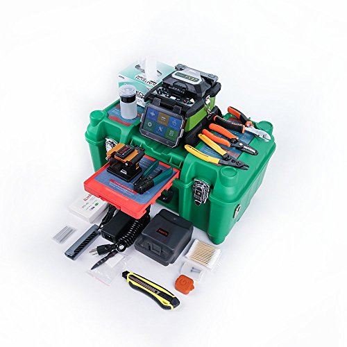 (Automatic Foucs Function FTTH Core Alignment Fusion Splicer Kit with Optical Fiber Cleaver KF-52, Drop Cable Stripper)