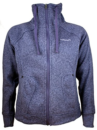 Avalanche Ladies' Full Zip Sweater Knit Fleece Jacket, Light ...