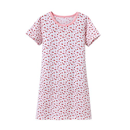 Zegoo Little Girls Cute Cotton Floral Nightgown White Printing 3-16 -