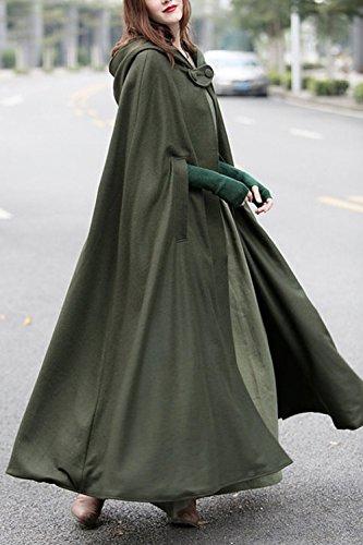 Costume Cape Femmes Les Armygreen D'amour Cosplay Lettre Bouton Vêtements À Capuche Ba8nqYx