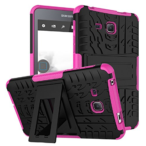 Maomi Samsung Galaxy Tab A 7.0 Case 2016 Release (SM-T280/T285),[Kickstand Feature],Shock-Absorption/High Impact Resistant Heavy Duty Armor Defender Case for Samsung Tab A 7 Inch Tablet (Pink)