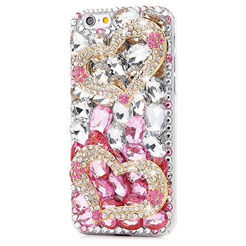 Mavis's Diary Coque iPhone 6/iPhone 6S PC Rigide Strass Cœur Housse de Protection Étui Téléphone Portable Phone Case Cover