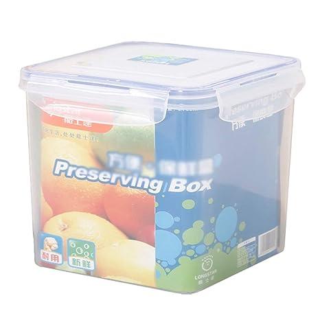 Recipiente De Almacenamiento De Grano De Alimentos Sellado para Frutas Y Verduras De Plástico Transparente 3L