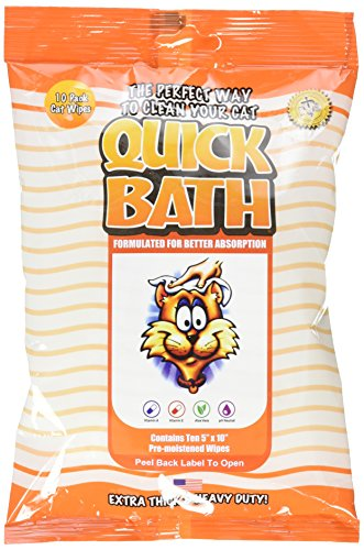 quick bath wipes for cats - 2