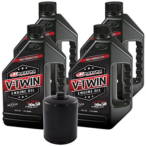 MaximaHiflofiltro VTEOCK14 Full Synthetic Engine Oil Change Kit for Harley Davidson Twin Cam V-Twin ()