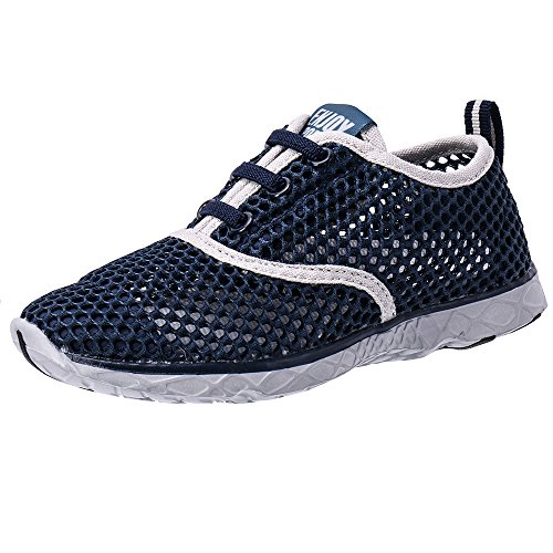 ALEADER Kid's Quick Dry Water Shoes Comfort Walking Sneakers Navy/Gray 11 M US Little Kids