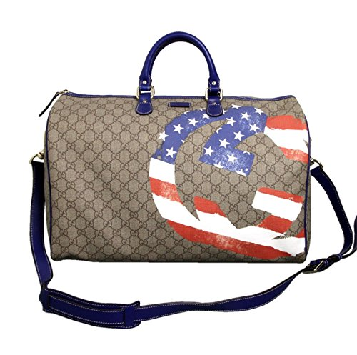 Gucci Unisex American Flag Duffle Boston Travel Bag - Usa Gucci