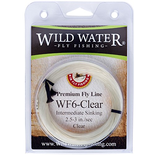 Wild Water Weight Forward 6-Weight Clear Intermediate Fly Fishing Line, 90 ft.