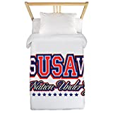 Twin Duvet Cover USA Jesus Saves Nation Under God
