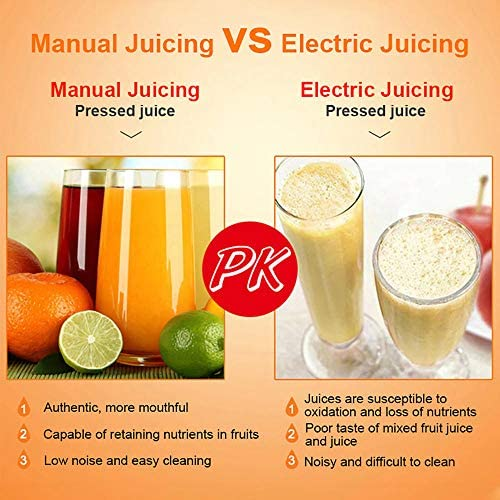 Exprimidor manual portátil y duradero, exprimidor de frutas de mano con clip de limón, exprimidor de frutas del bebé del hogar de la cocina