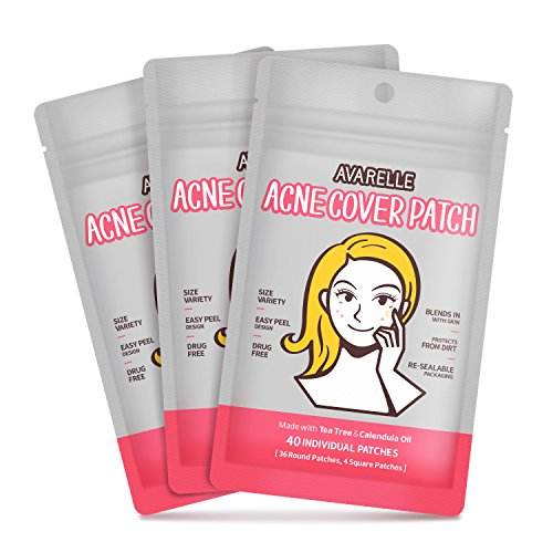 Acne Cover Patch With Tea Tree & Calendula (120 Count) from AVARELLE